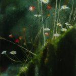 Muret en Bretagne - Peinture au pastel sec par l'artiste peintre Isabelle Douzamy - 37x74 cm (encadré)