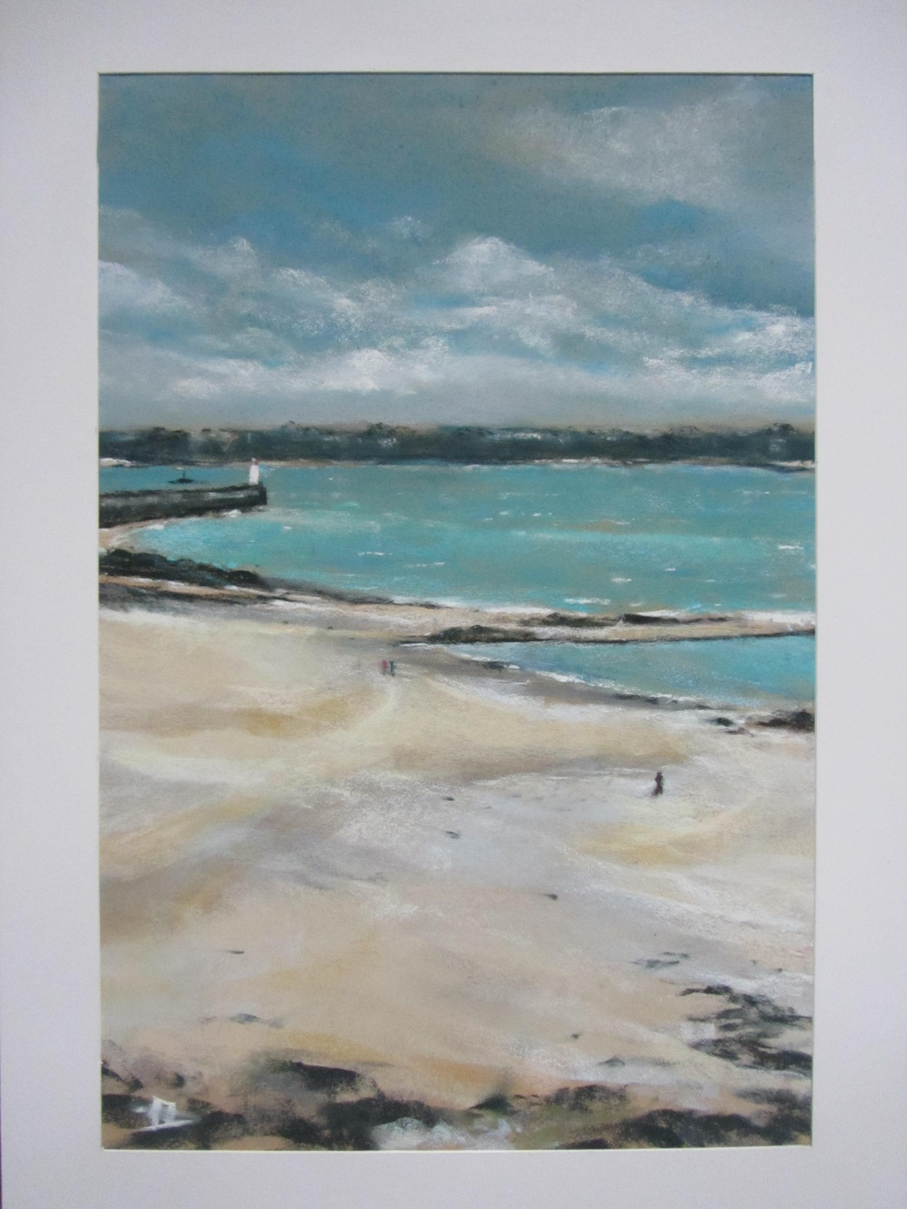 Phare de Saint-Malo - Pastel sec par Isabelle Douzamy - Février - 39x59 cm