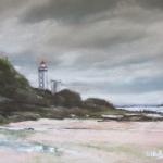 Phare du Petit Minou à Plouzané - Peinture au pastel sec - 30x40 cm