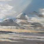 Pléneuf-Val-André vue sur la Grande Guette - Peinture au pastel sec - 39x59 cm - 700€