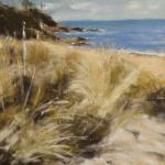 Plage de la Mare - Peinture au pastel sec par Isabelle Douzamy - 30x40cm