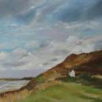 Plage des Vallées à Pléneuf - Peinture au pastel sec par Isabelle Douzamy - 40x60cm - 650€