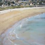 Plage des Mielles - Pastel sec par Isabelle Douzamy - 50x65cm - Collection privée