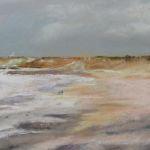 Plage du Vieux Bourg Cap Fréhel - Peinture au pastel sec par Isabelle Douzamy - 30x40cm