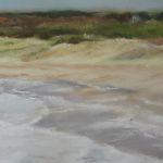 Plage du Vieux Bourg Pléhérel - Peinture au pastel sec 40x60 cm