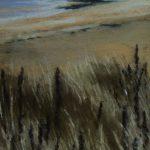 Pointe de la Garde à Saint-Cast-Le-Guildo - Peinture au pastel sec par l'artiste peintre Isabelle Douzamy - 27x57 cm (encadré)