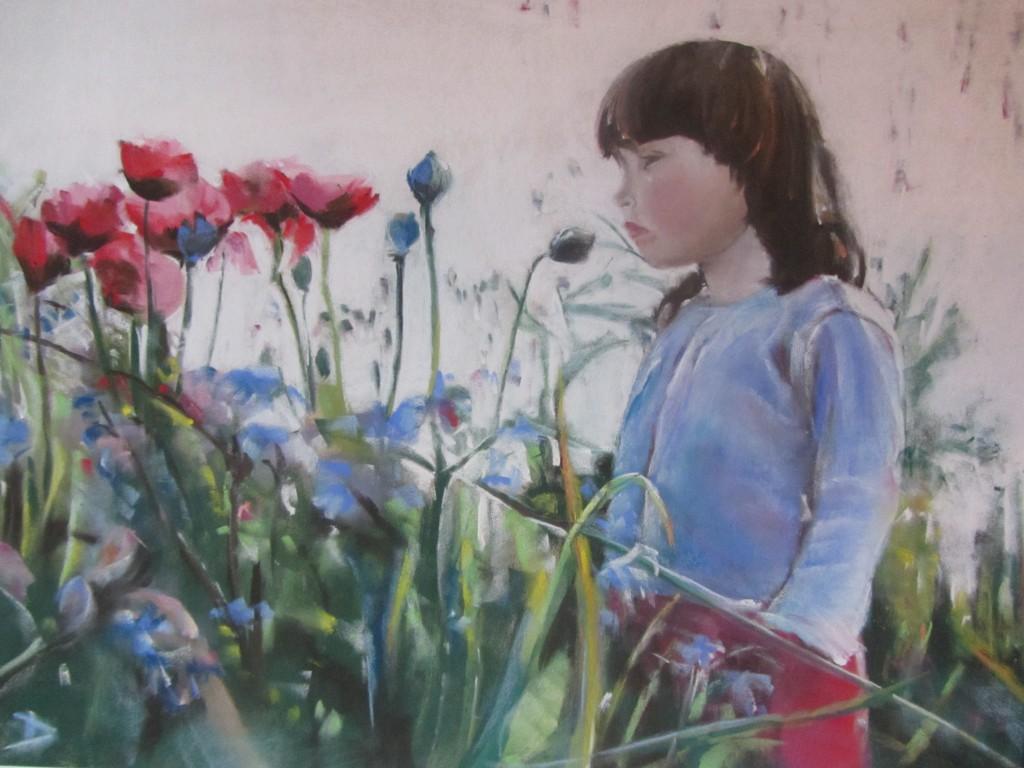 Portrait Eloïse - Pastel sec par Isabelle Douzamy - 50x65 cm - Collection privée