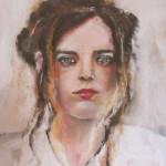 Portrait Mallory - Peinture au pastel sec par Isabelle Douzamy - 40x50 cm - Collection privée