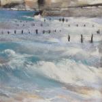 Saint-Malo Rochebonne - Peinture au pastel sec par l'artiste peintre Isabelle Douzamy - 30x57cm encadré - 300€
