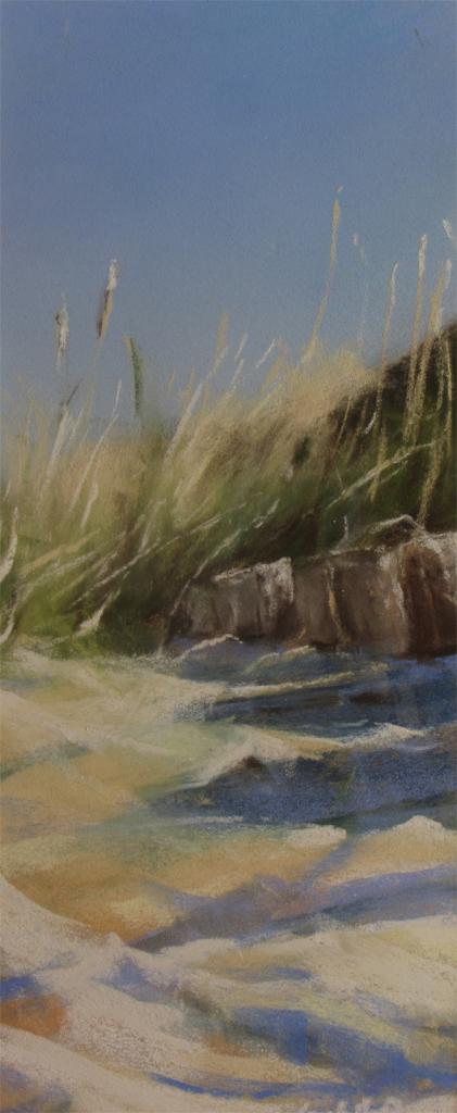 Rondins - Peinture au pastel sec par l'artiste peintre Isabelle Douzamy - 30x57cm (encadré) - 300€