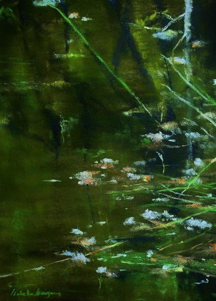 Sérénité - Peinture au pastel sec par l'artiste peintre Isabelle Douzamy - 40x50 cm (encadré)