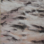 Sables d'Or-les-Pins - Peinture au pastel sec par l'artiste peintre Isabelle Douzamy - 17,5x42,5cm