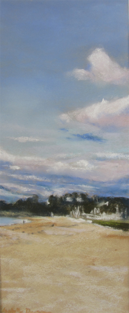 Saint-Cast - Peinture au Pastel sec par l'artiste peintre Isabelle Douzamy - 30x57 cm - 300€