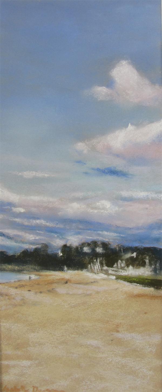 Saint-Cast - Peinture au Pastel sec par l'artiste peintre Isabelle Douzamy - 30x57 cm