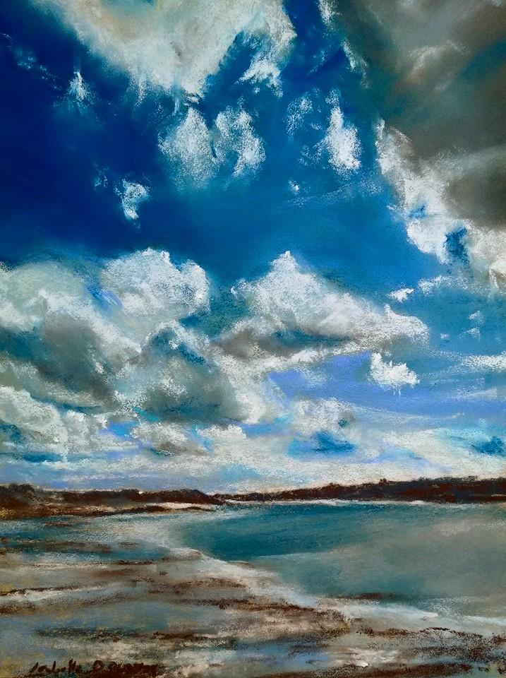 Saint-Jacut-de-la-mer - Peinture au pastel sec par l'artiste peintre Isabelle Douzamy - 40x50 cm
