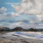 Saint-Malo Plage du Sillon - Peinture au pastel sec par l'artiste peintre Isabelle Douzamy - 40x50cm - 400€