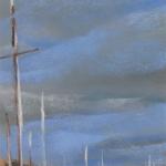 St-Malo - Peinture au pastel sec par l'artiste peintre Isabelle Douzamy - 30x57cm - 300€