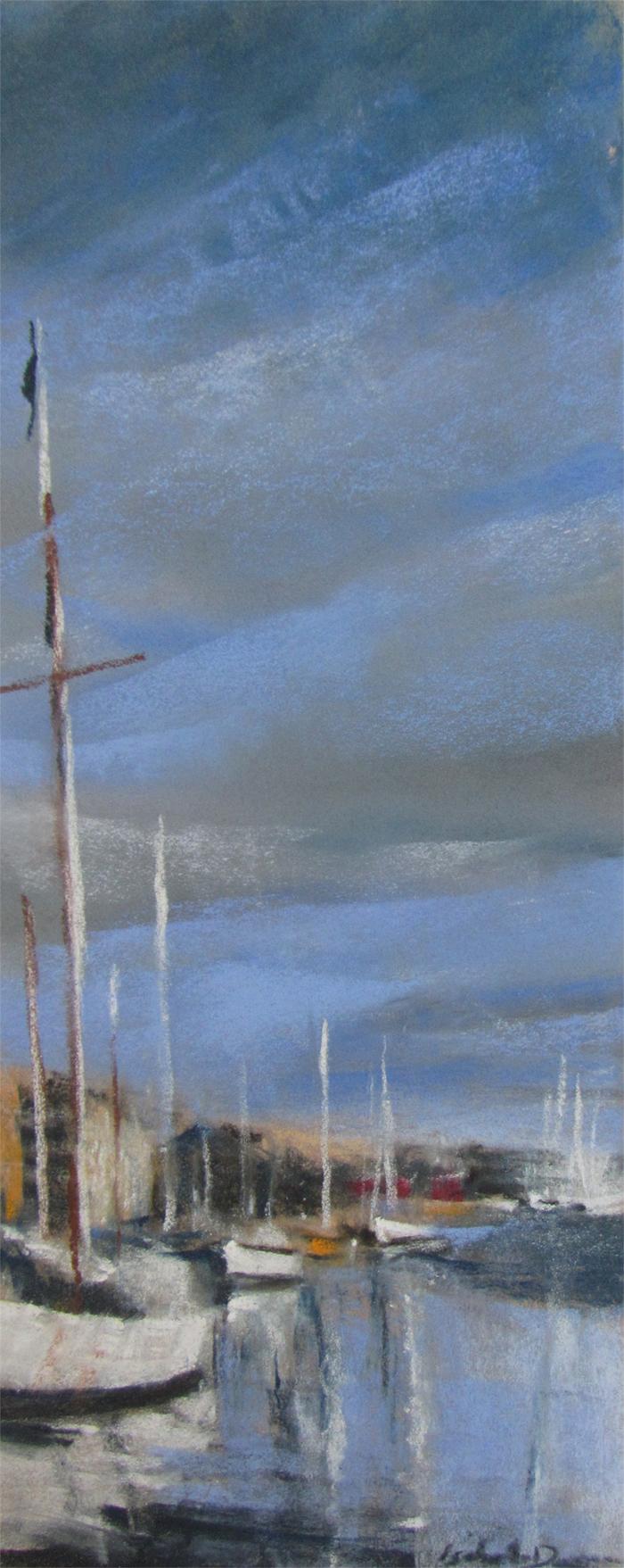 St-Malo - Peinture au pastel sec par l'artiste peintre Isabelle Douzamy - 30x57cm