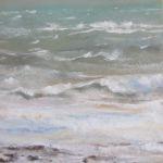 Tempête plage du Vieux-Bourg - Pastel sec par Isabelle Douzamy - 30x40cm
