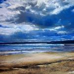 Un autre jour à Saint-Cast - Peinture au pastel sec par l'artiste peintre Isabelle Douzamy - 40x50 cm (encadré)