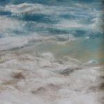 Vue sur le Fort la Latte - Peinture au pastel sec par l'artiste peintre Isabelle Douzamy - 30x57 cm encadré
