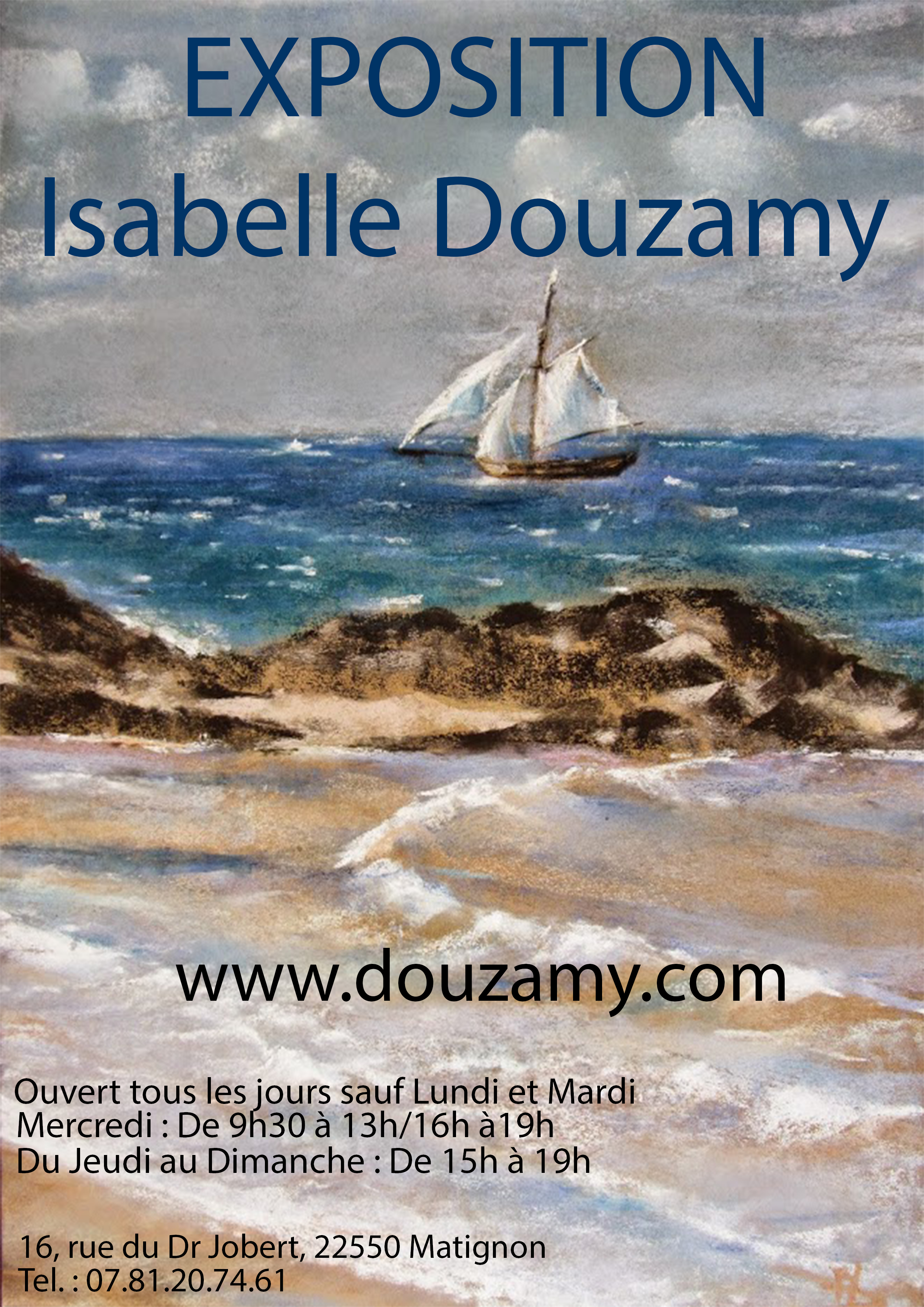 Exposition peintures au pastel sec Isabelle Douzamy à Matignon